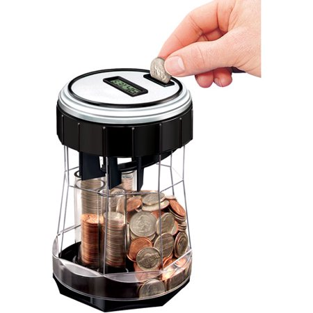 Ez count money jar and digital coin counter - Coin bank that counts money ...