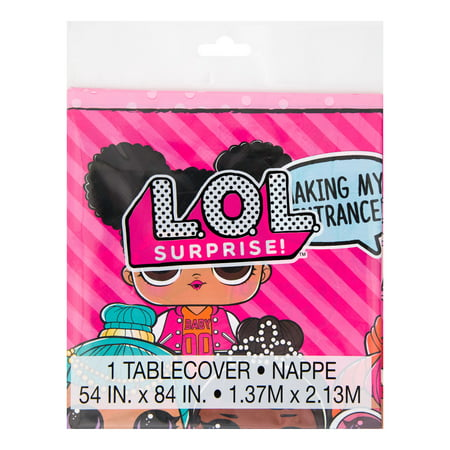(2 pack) LOL Surprise Plastic Tablecloth, 84 x 54 in, 1ct](Plastic Tablecloths Decorating)