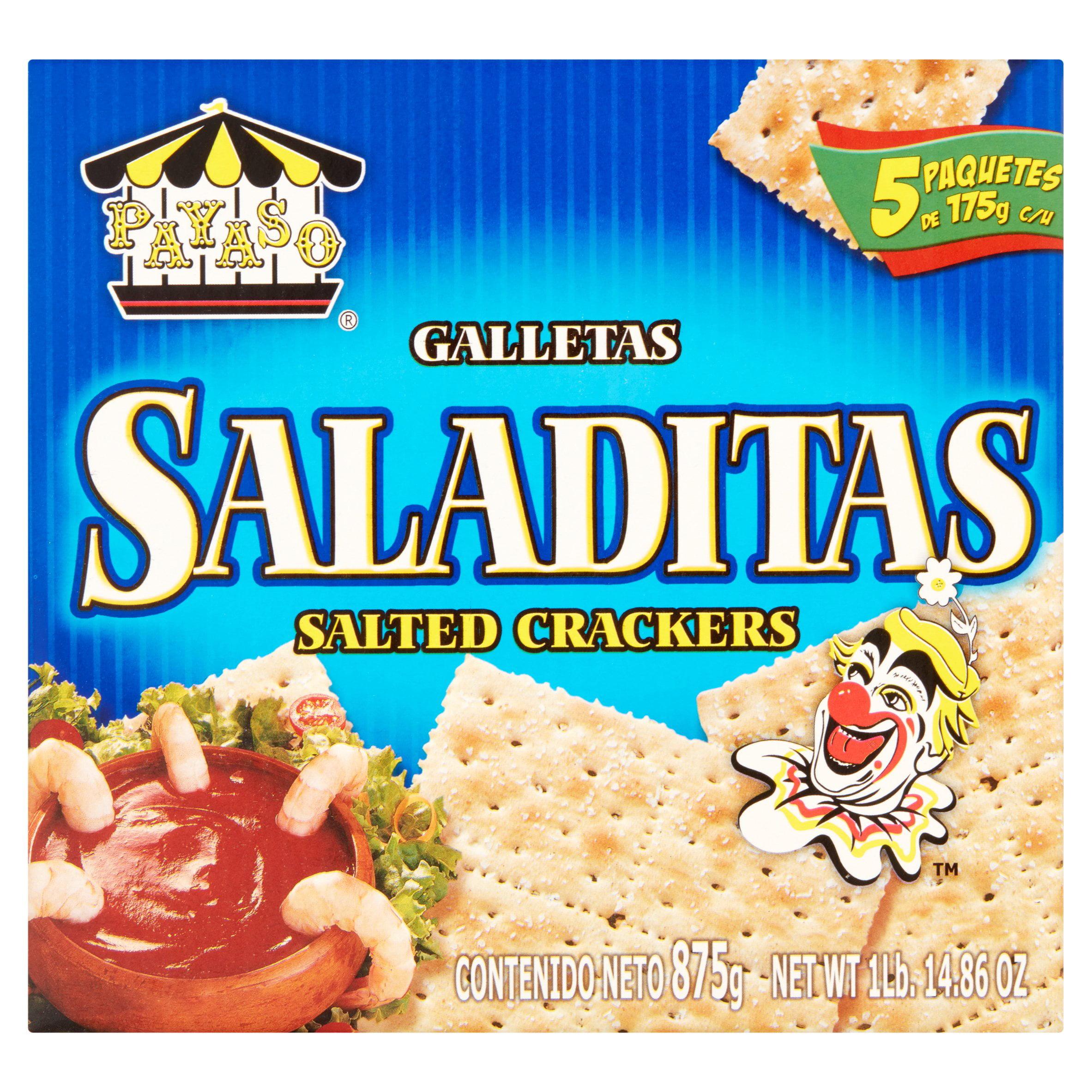 (2 Pack) Payaso Saladitas Salted Crackers 1 lb.