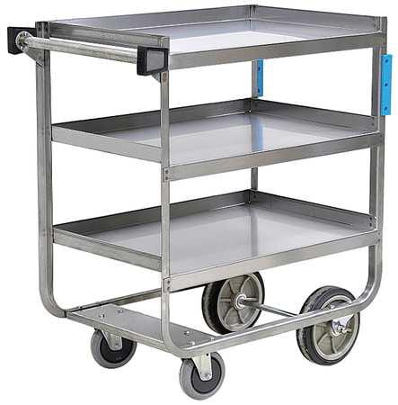 Utility Cart,SS,38-5/8 Lx22-3/8 W,700 lb ZORO SELECT 5JNK1