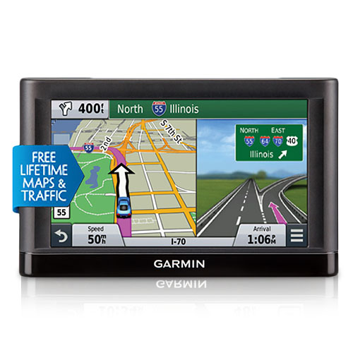 "Refurbished ""Garmin Nuvi 65LMT 6 inch GPS with Lifetime Maps and Traffic Updates"
