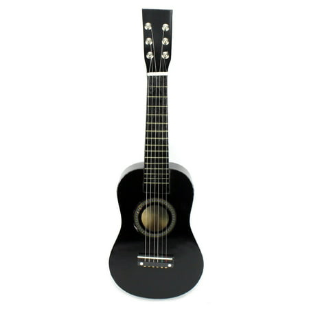 Acoustic Classic Rock 'N' Roll 6 Stringed Toy Guitar Musical Instrument w/ Guitar Pick, Extra Guitar String (Black) - Rock Toys