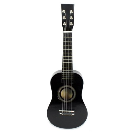 Acoustic Classic Rock 'N' Roll 6 Stringed Toy Guitar Musical Instrument w/ Guitar Pick, Extra Guitar String (Black)