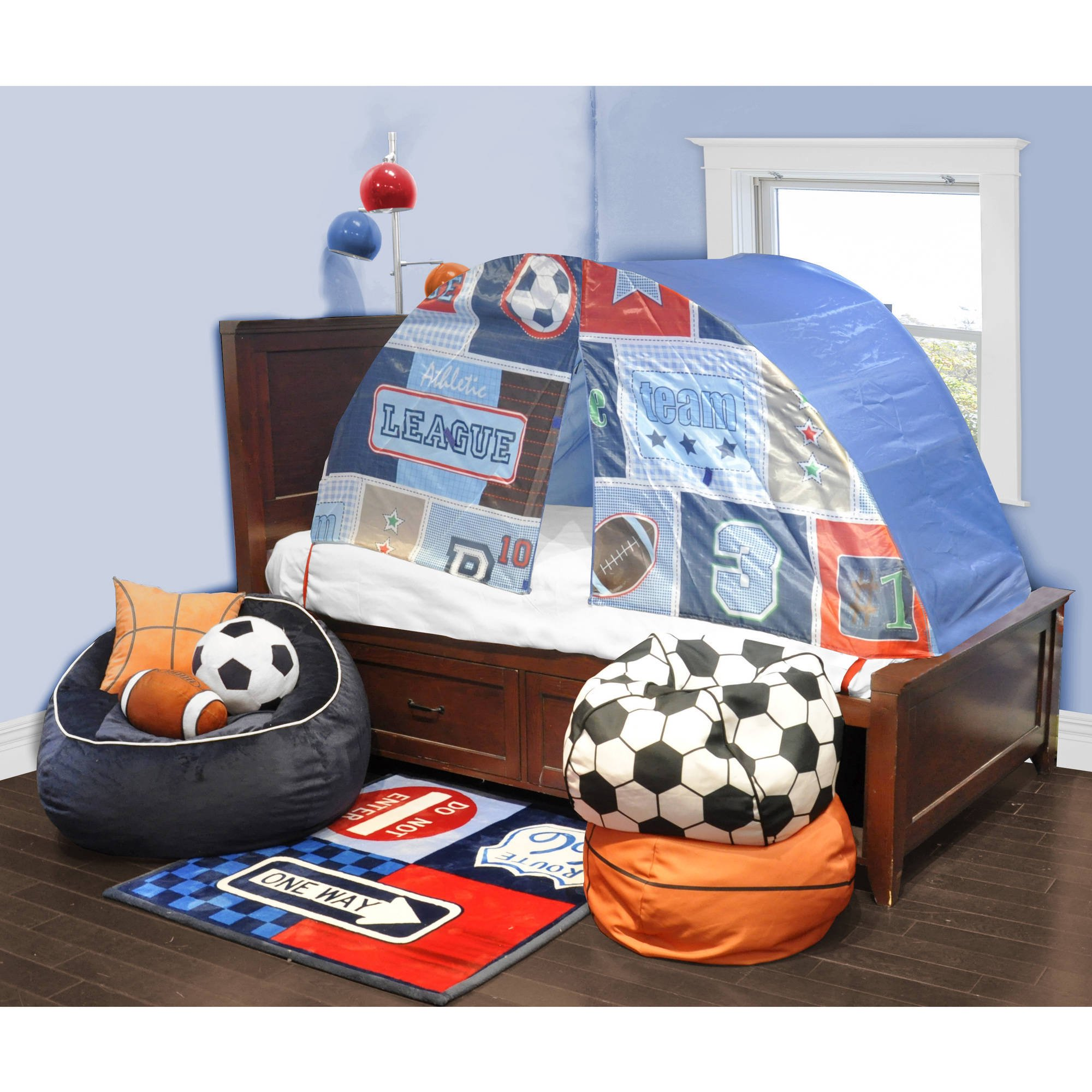 Kids Scene Sports Play Bed Tent  sc 1 st  Walmart : twin bed tent walmart - memphite.com