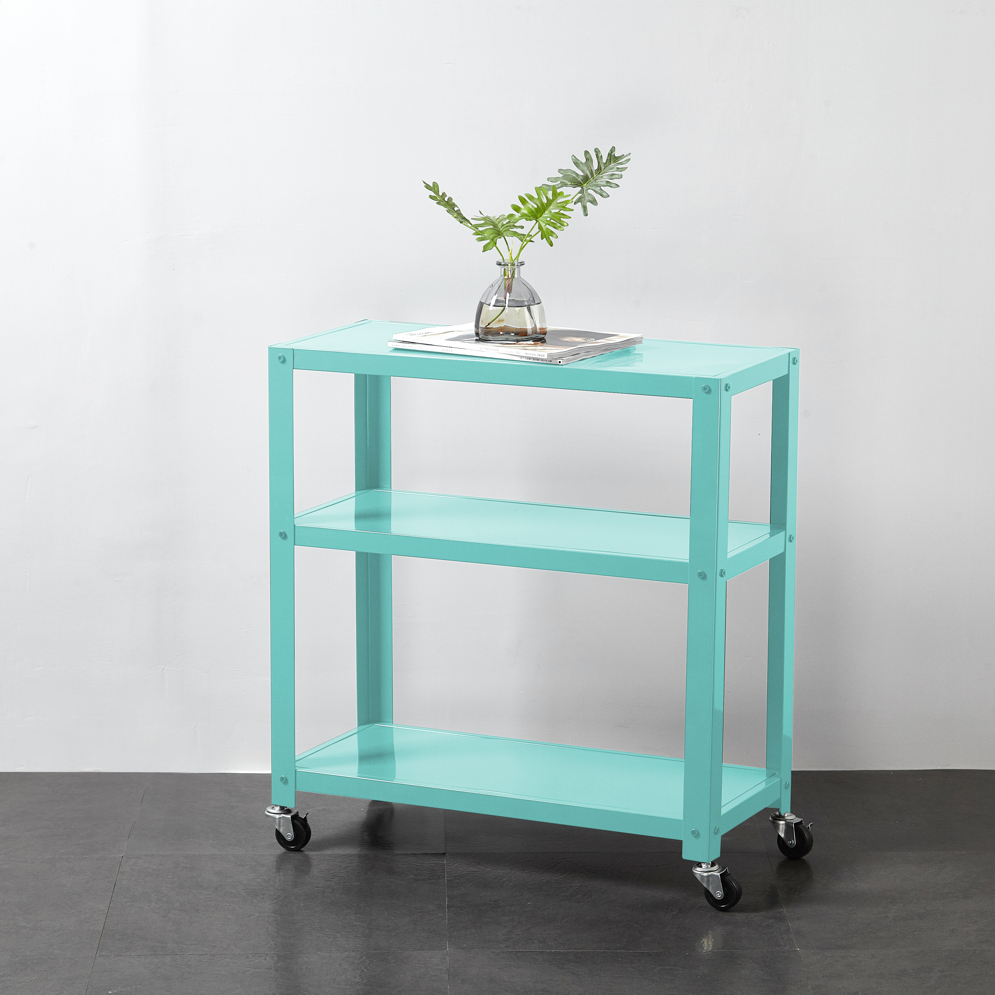 Mainstays 3-Tier Rolling Metal Bookcase , Multiple Colors