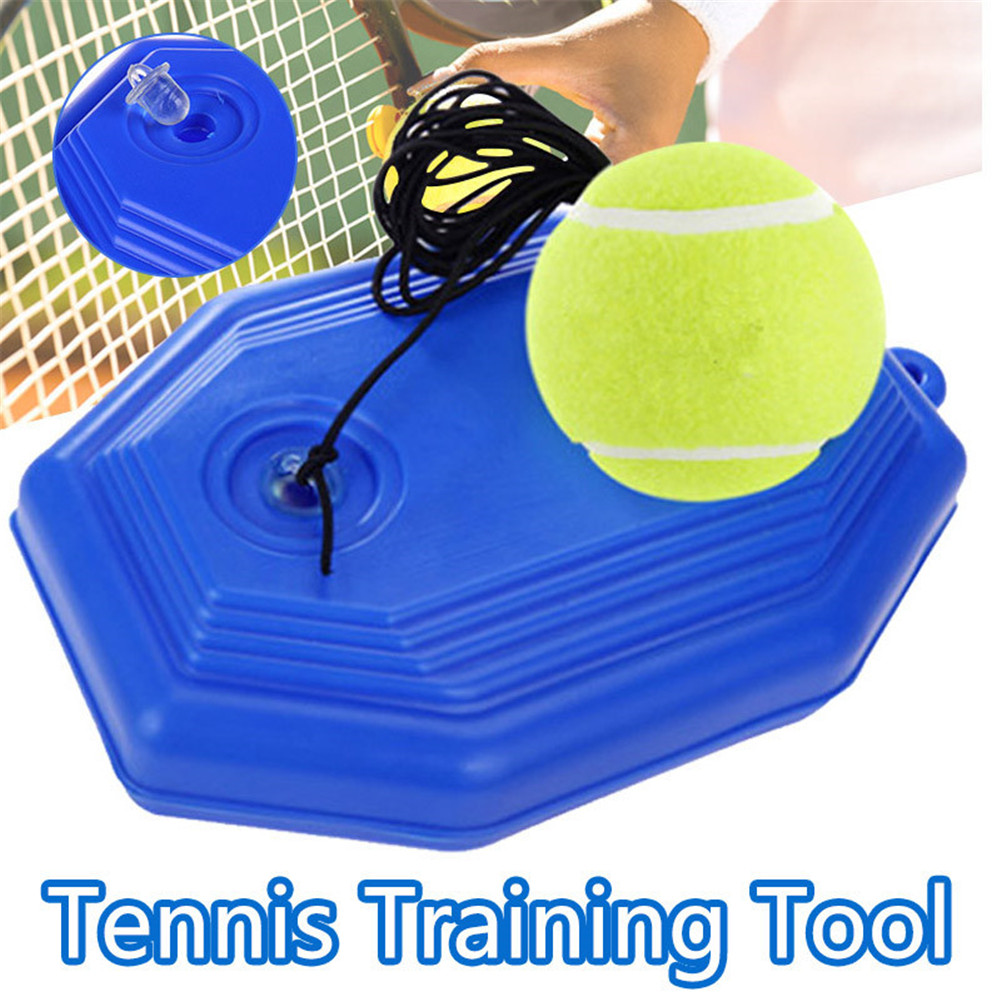 Fill /& Drill Tennis Trainer with String,Singles Rebounder Tennis Practice Equipment LISJFS Solo Tennis Trainer Rebound Ball