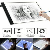 Ultra Thin A4/A5 Adjustable Brightness LED Copy Board Pad Light Box Art Design Stencil Tracing Drawing Tablet