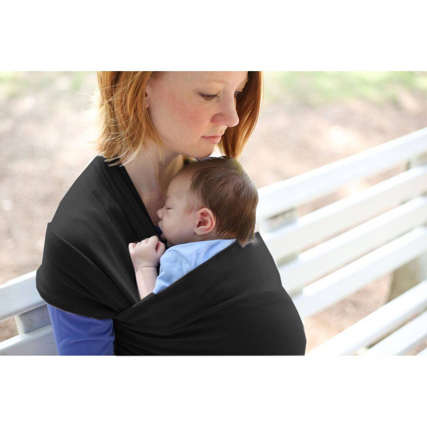 Soft cotton baby carrier baby wrap  baby sling soft  carrier baby wrap  nursing Cover Great Baby  Gift-Black colors