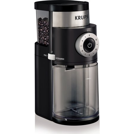 KRUPS, Professional Burr Coffee Grinder, Black GX500050