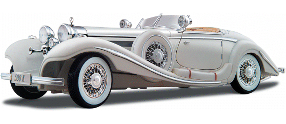 1936 Mercedes Benz 500K Typ Roadster Convertible, White Maisto Premiere 36055 1 18 Scale... by Maisto