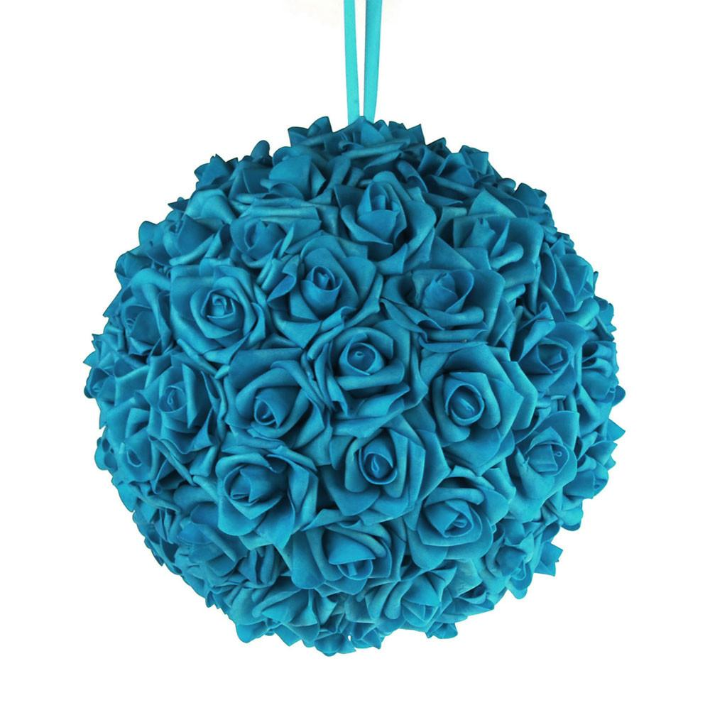 Soft Touch Flower Kissing Balls Wedding Centerpiece, 12-inch