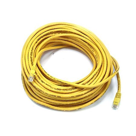 24awg Snake Cable - Monoprice Cat5e Ethernet Patch Cable - Network Internet Cord - RJ45, Stranded, 350Mhz, UTP, Pure Bare Copper Wire, 24AWG, 75ft, Yellow