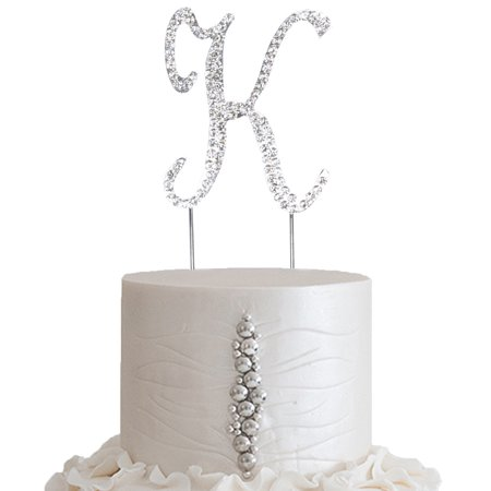 Cheap Wedding Cake Toppers (BalsaCircle Silver Cake Topper - 2.5