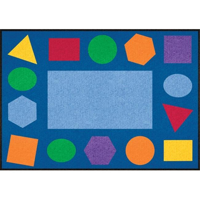 Learning Carpets CPR 409 9 ft. x 12 ft. Geometric Rectangle Shapes Cut Pile Rug