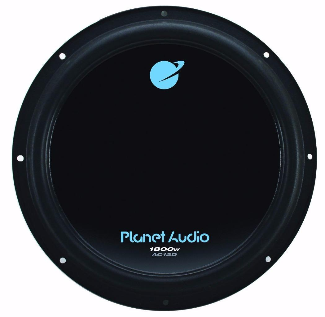 "Planet Audio AC12D 1800 W Max 12"" Dual 4-Ohm Voice Coil Car Stereo Subwoofer"