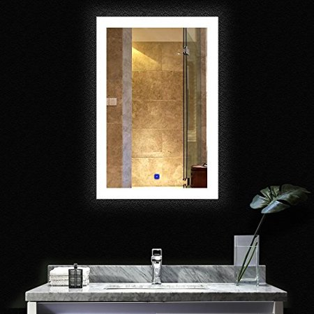 Bath Knot Bathroom Smart Backlit Lighted Mirror With Defogger And Touch Dimming Switch Very Light