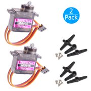2-pack MG90S Mini Digital Servo Metal Geared Micro Servo Motor for RC Helicopter Plane Boat Car