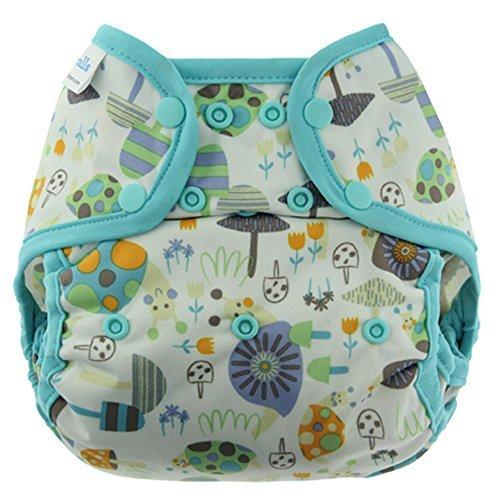 Blueberry - 100% Polyester Coveralls Diaper Covers (Snails), One Size