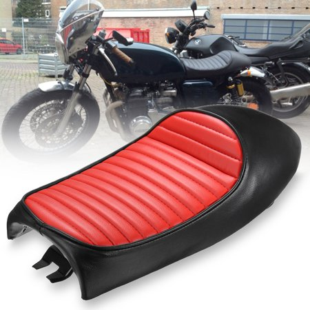Universal MOTO Retro Vintage Red Hump Saddle Cafe Racer Seat Motorcycle Custom Cover Cushion For  CG125 Professional Design motorcycleaccessorie for Long Time Riding - image 6 of 9