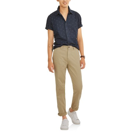 George George Men S Slim Straight Chino Pants Walmart Com Walmart Com