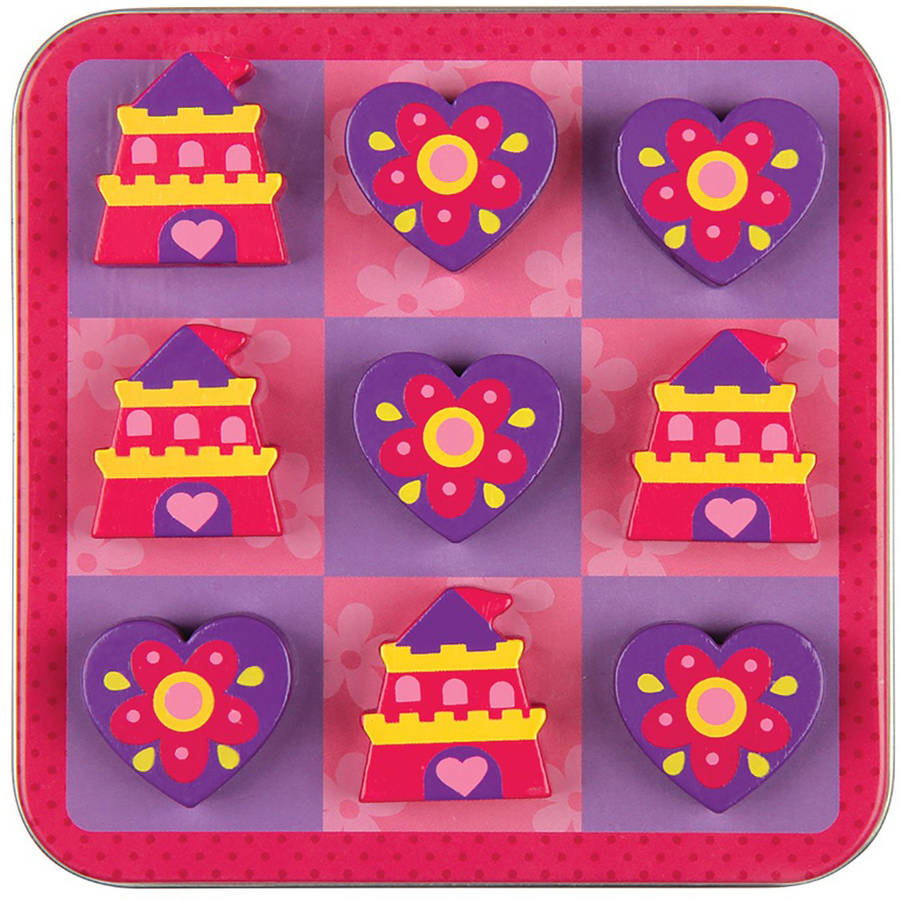 Magnetic Tic Tac Toe Set, Princess