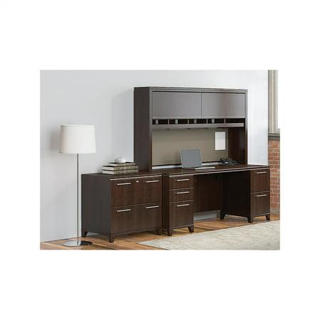 Bush Enterprise 72W Double Pedestal Desk Office Suite in Mocha Cherry - image 2 de 7