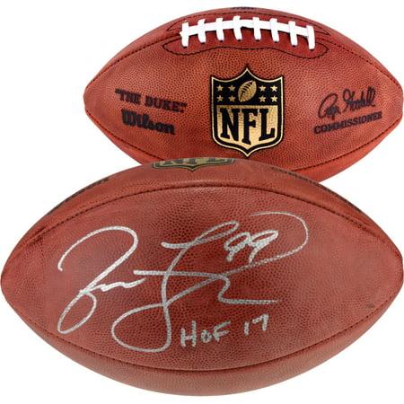 "Jason Taylor Miami Dolphins Autographed Duke Football with ""HOF 17"" Inscription - Fanatics Authentic Certified"