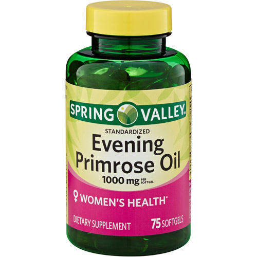 Spring Valley Evening Primrose Oil Dietry Supplement Softgels, 1000 mg, 75 count