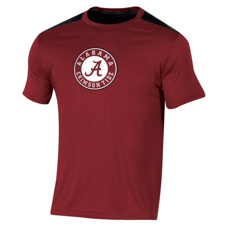 Men's Russell Crimson Alabama Crimson Tide Synthetic Colorblock Crew T-Shirt