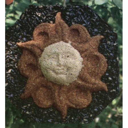 - PTF1362 Sun Wreath, Sun face wreath crafted from bird seed for showcasing in your garden By Pine Tree Farms