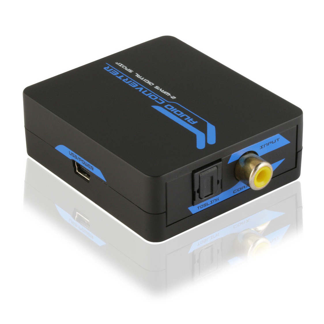 Digital Audio Bi-Directional Converter - RCA Coax to SPDIF Optical Toslink