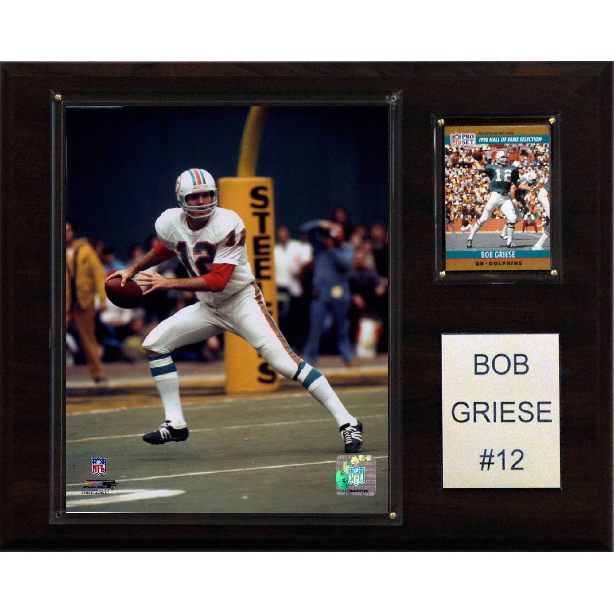 C&I Collectables NFL 12x15 Bob Griese Miami Dolphins Player Plaque