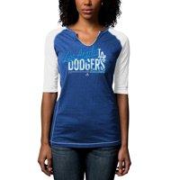 0507eae4 Product Image Los Angeles Dodgers Majestic Women's Playful Pitch Raglan  T-Shirt - Royal Blue