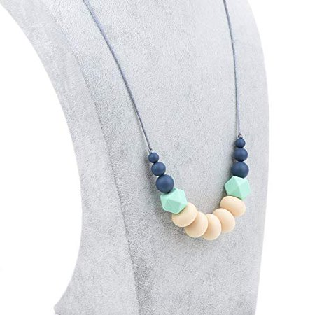 BEBE by Me `Collins` Silicone Teething Necklace for Nursing Moms - image 2 de 4