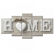 5 Pcs/Set Concise Fashion Wall Paintings, Home Letter Prints, Photo Paintings Wall Art, Modern Home Decorations