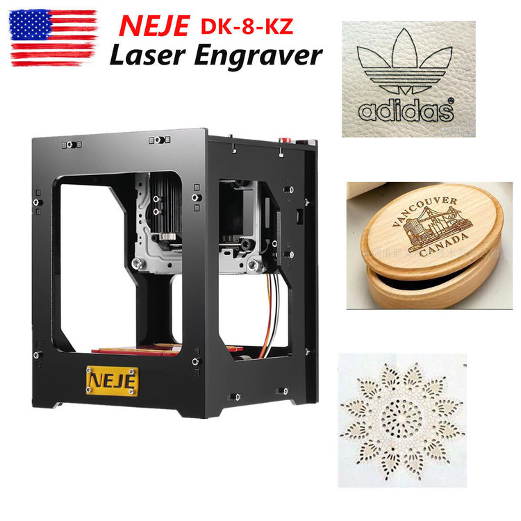 Laser Engraver Printer Miniature DIY Laser Engraving Machine with Aluminum Print Bed for ABS/PLA/Tough PLA/PETG/HIPS/Wood/& More