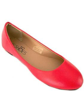 Shoes 18 Womens Ballerina Ballet Flat Shoes Solids & Leopards (11, Gold PU 8600)