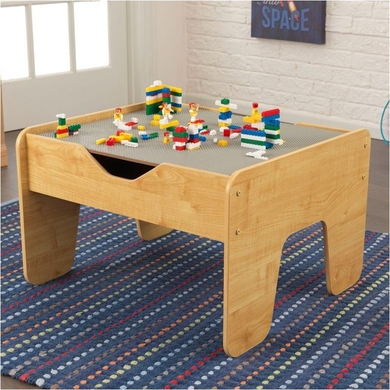Pemberly Row Activity Play Table in Gray and Natural