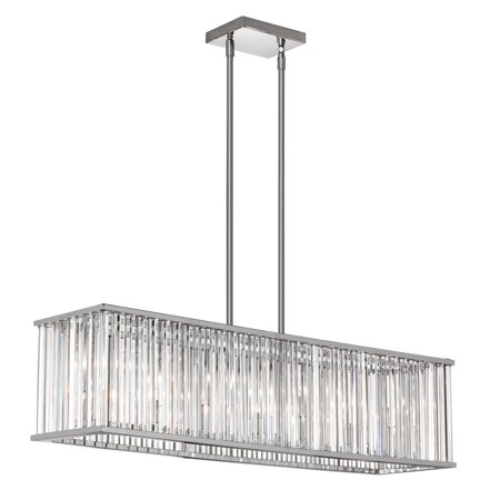 Dainolite 7 Light Horizontal Crystal Chandelier - Polished Chrome ()
