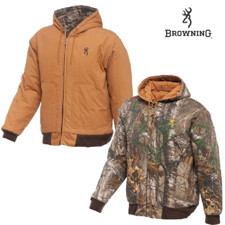 c02a84265ae52 Browning - Classic Insulated Reversible Jacket (XL)-Brown/RTAP - Walmart.com