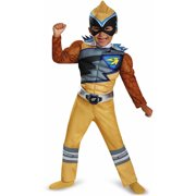 Gold Power Ranger Dino Charge Toddler Muscle Halloween Dress Up / Role Play Costume