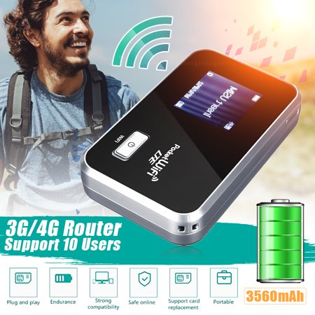 Portable Router 4G/3G Wifi Wireless Router Mobile Broadband Hotspot SIM  Card Slot Unlocked