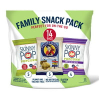 SkinnyPop and Pirate's Booty Variety Pack, 14 Ct Snack Bags