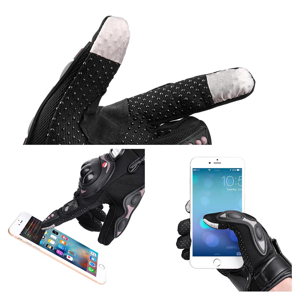 Yescom Motorcycle Full Finger Gloves Motorbike Motocross Cycling Racing Sports Outdoor Screen Touch M/L/XL Opt