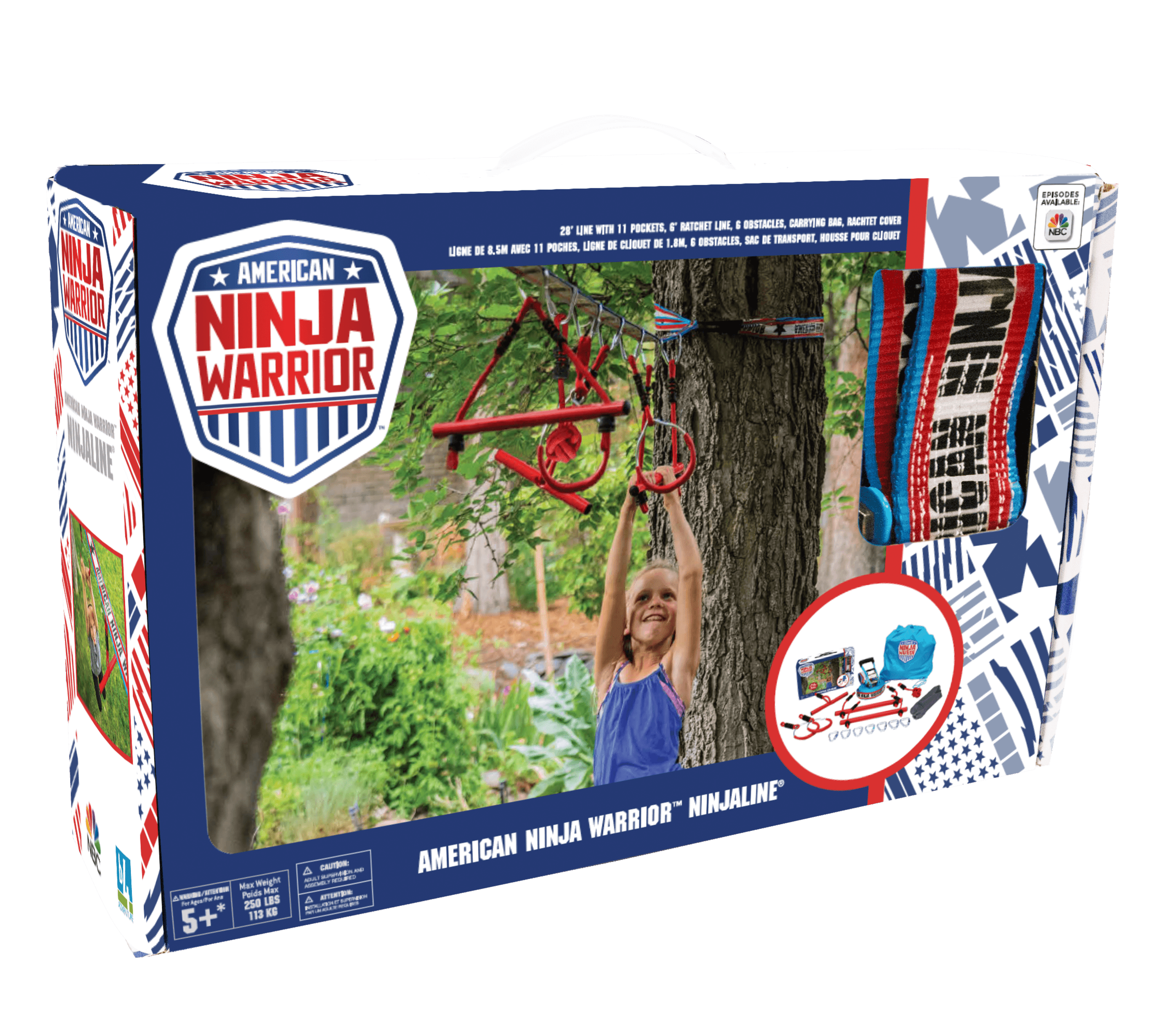 American Ninja Warrior™ Ninjaline- 34ft line with 6