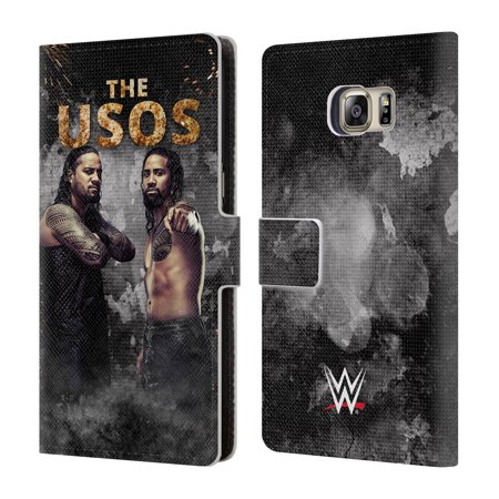 OFFICIAL WWE THE USOS LEATHER BOOK WALLET CASE COVER FOR SAMSUNG PHONES 1