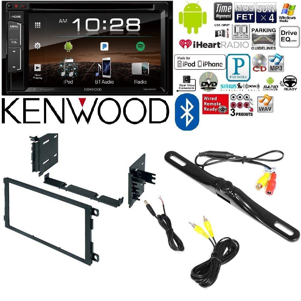 "Kenwood DDX25BT Double DIN SiriusXM Ready Bluetooth In-Dash DVD/CD/AM/FM Car Stereo Receiver w/ 6.2"" Touchscreen Metra 95-2009 Double DIN Installation Multi-Kit for 95-08 GM/Honda/Isu"