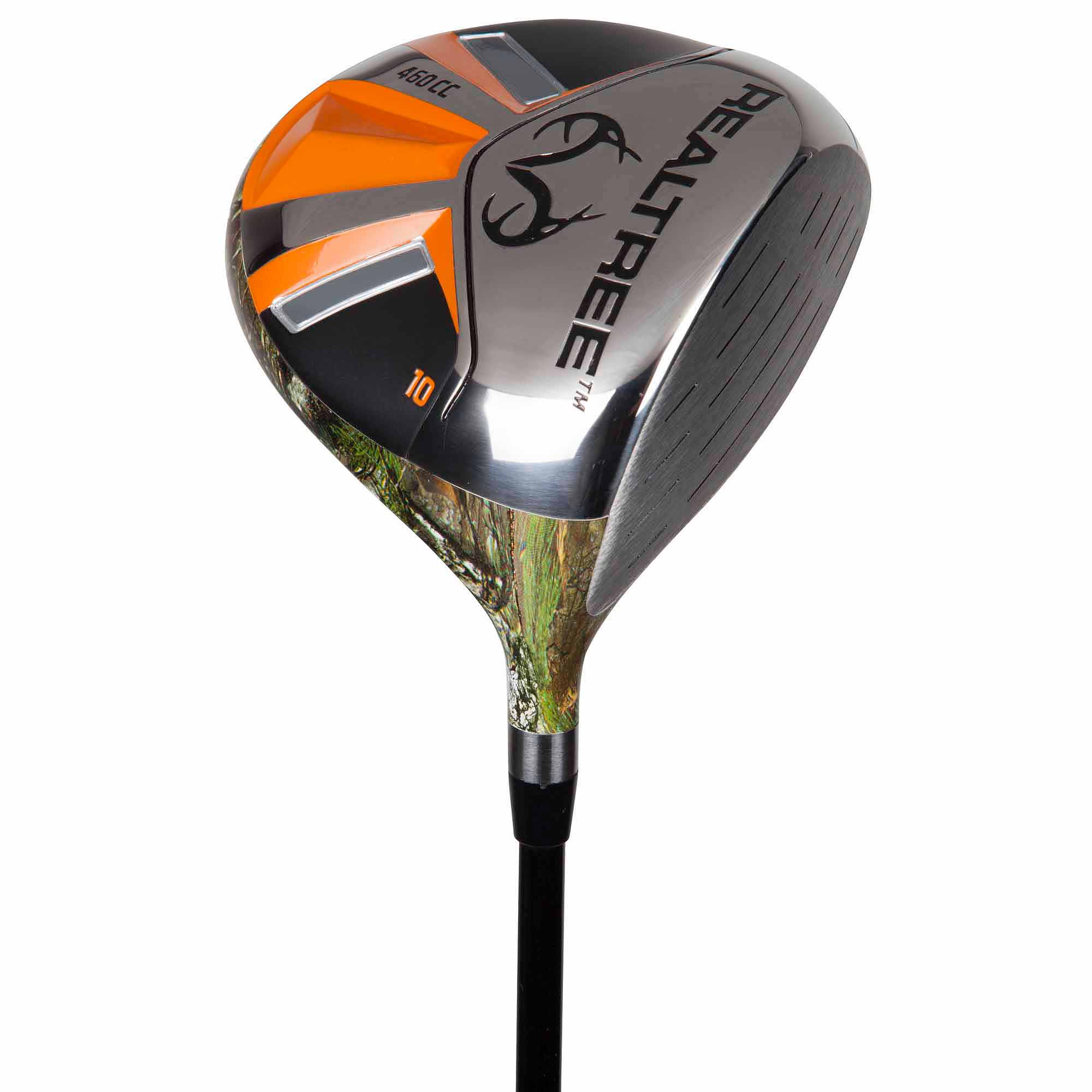 Pinemeadow Golf Real Tree Men's Driver, Black/Orange/Xtra