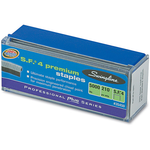 Swingline S.F. 4 Premium Chisel Point 210 Count Full Strip Staples, 5,000 per Box