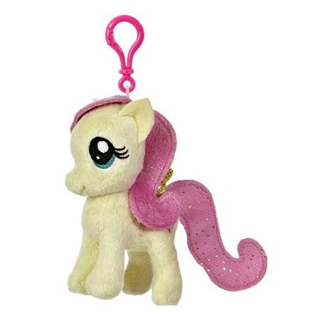 Aurora World My Little Pony Clip-On Fluttershy Pony Plush, 4.5